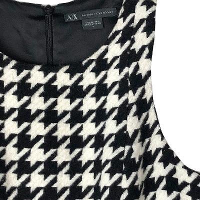 swallow pattern dress black